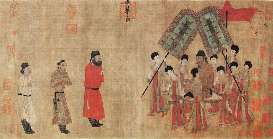 Yan Liben, Emperor Taizong Receiving the Tibetan Envoy - I is for Ink